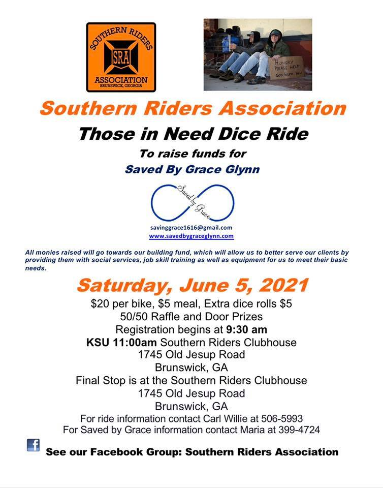 June 5 Those in Need Dice Ride - Southern Riders Association
